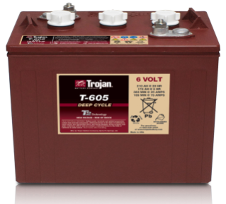 1227180 6 Volt Wet Trojan Battery alt