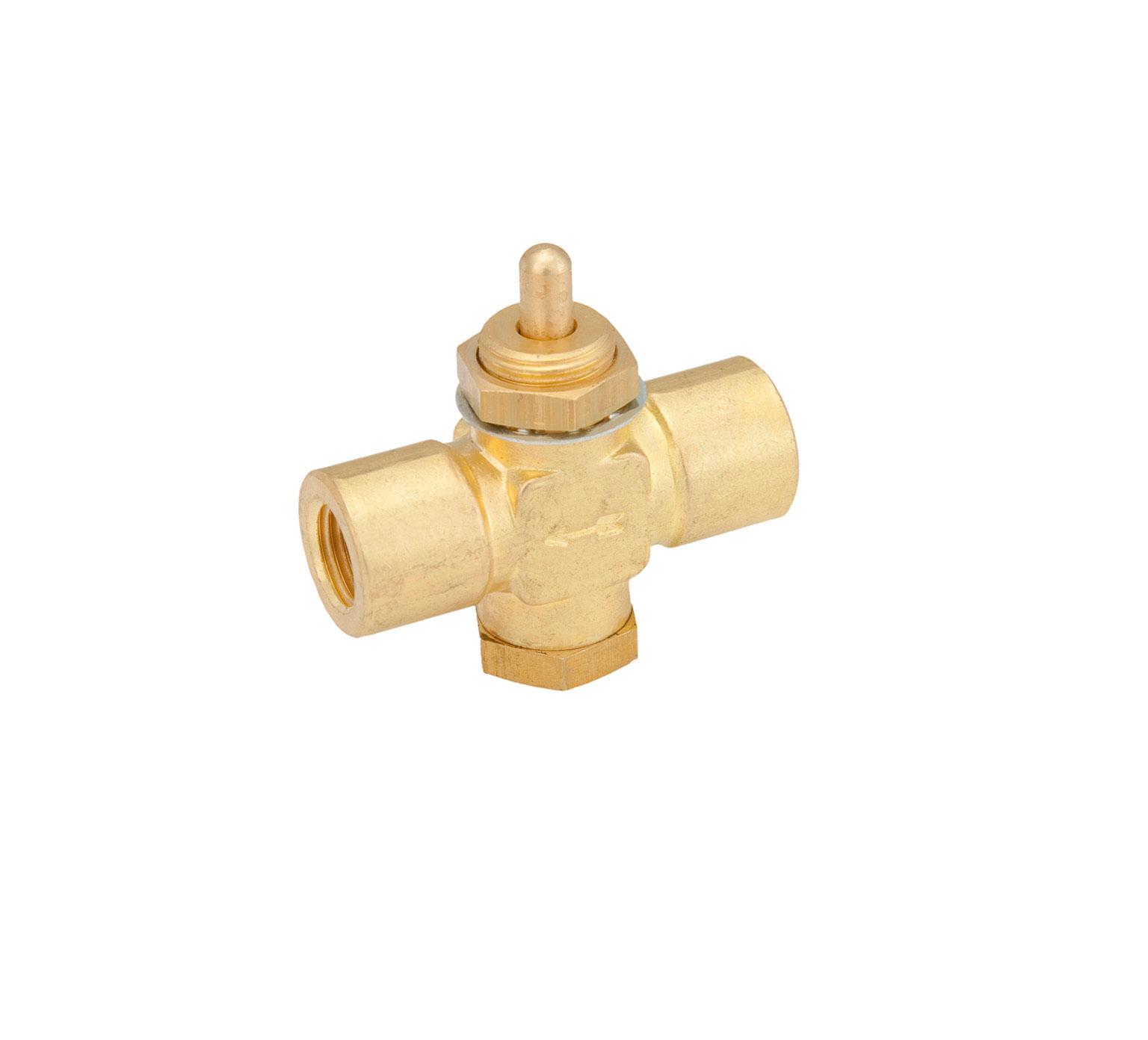 Tennanttrue Natural Brass Water Valve 0 75 X 2 13 X 2 25
