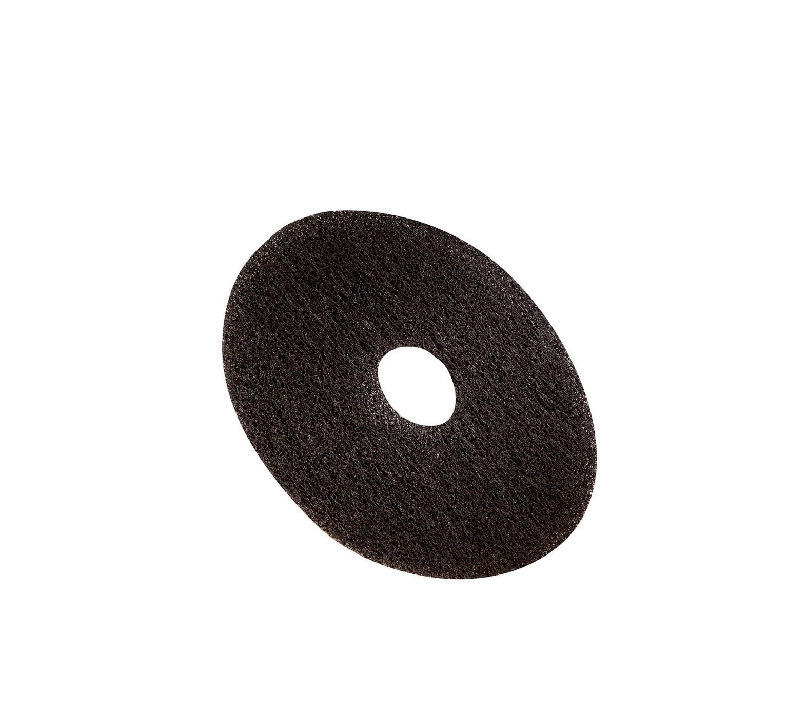 3m Black Stripping Pad 16 In 406 Mm 370092