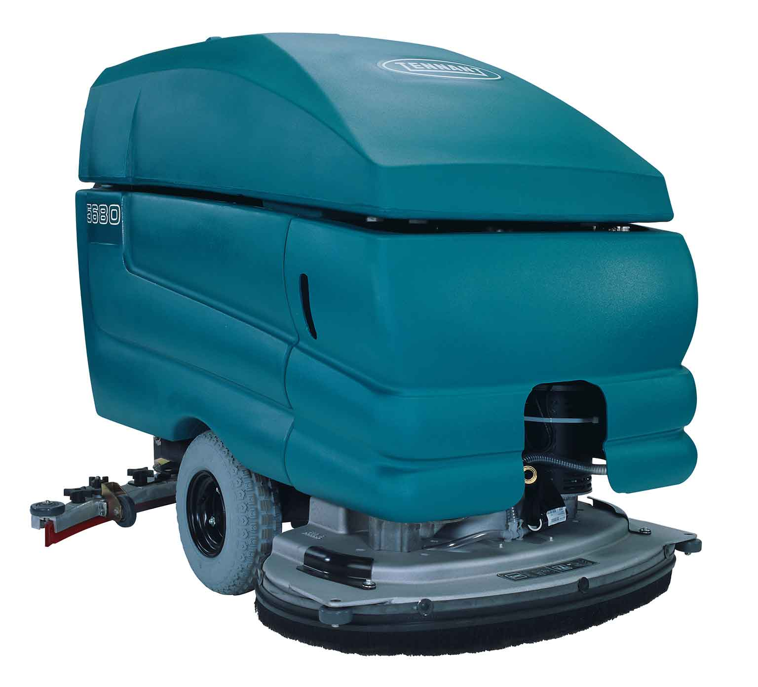 5680 walk behind floor scrubber tennant company for Floor scrubber