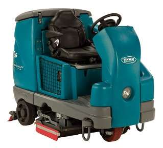 T16 Battery Ride-On Floor Scrubber alt