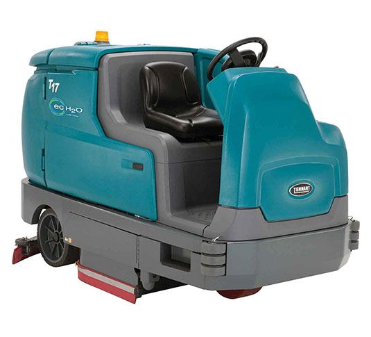 T17 heavy duty battery rider scrubber tennant company for Floor zamboni machine